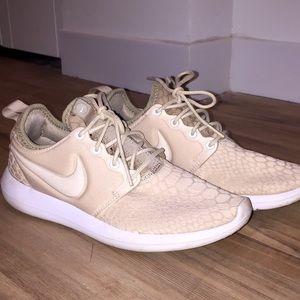 Nike Tan Snake Skin Running Shoes (Customized)